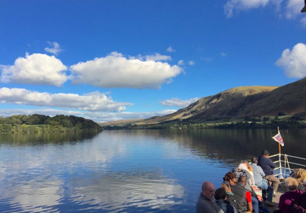 The Steamerboats at Lake Ullswater in The Lake District