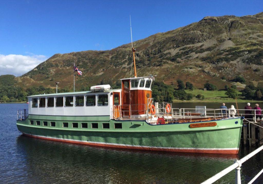Steamer on Ullswater